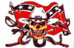 Pirate Rebel with Snake Large Flag - 5' x 3'.